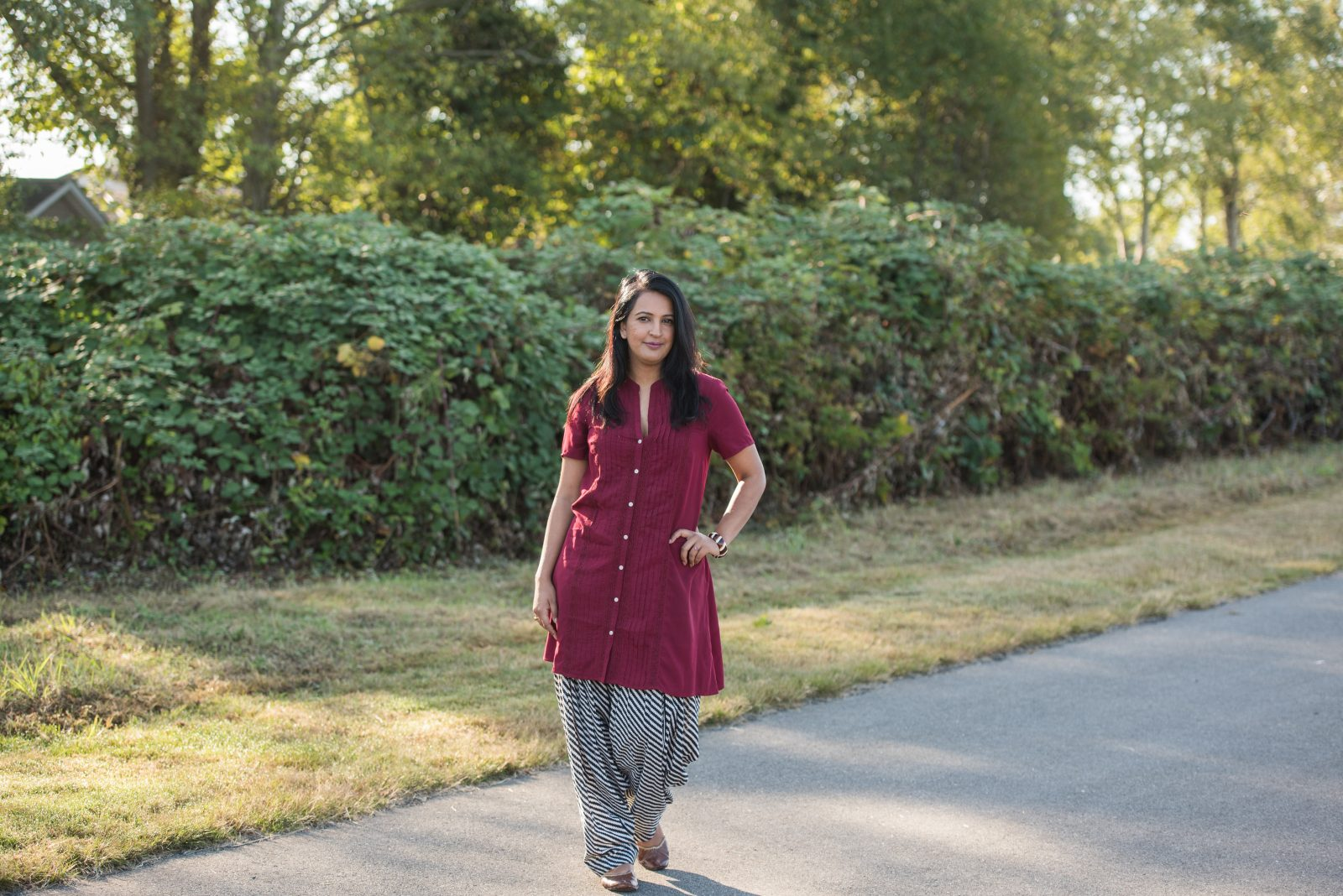 indo fusion, kurti outfit, pink chai living