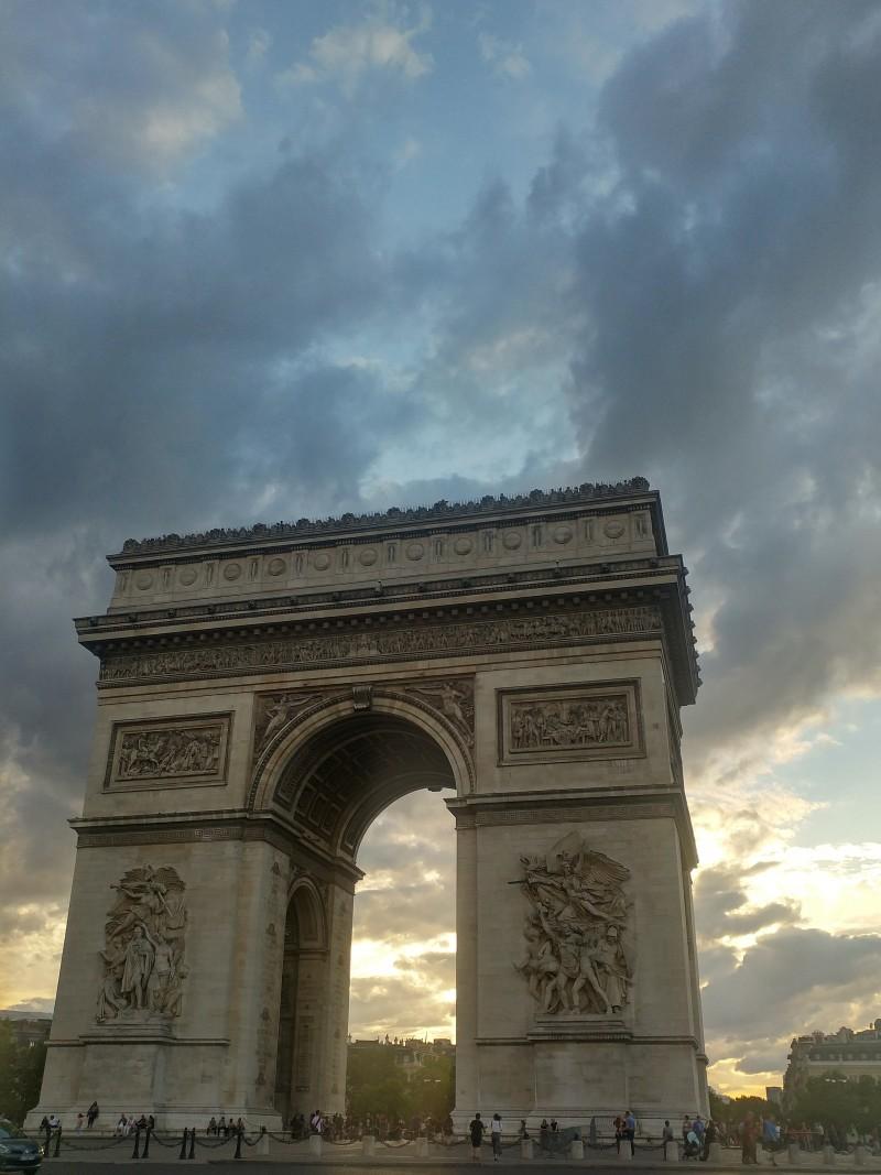 paris, arc de triompe