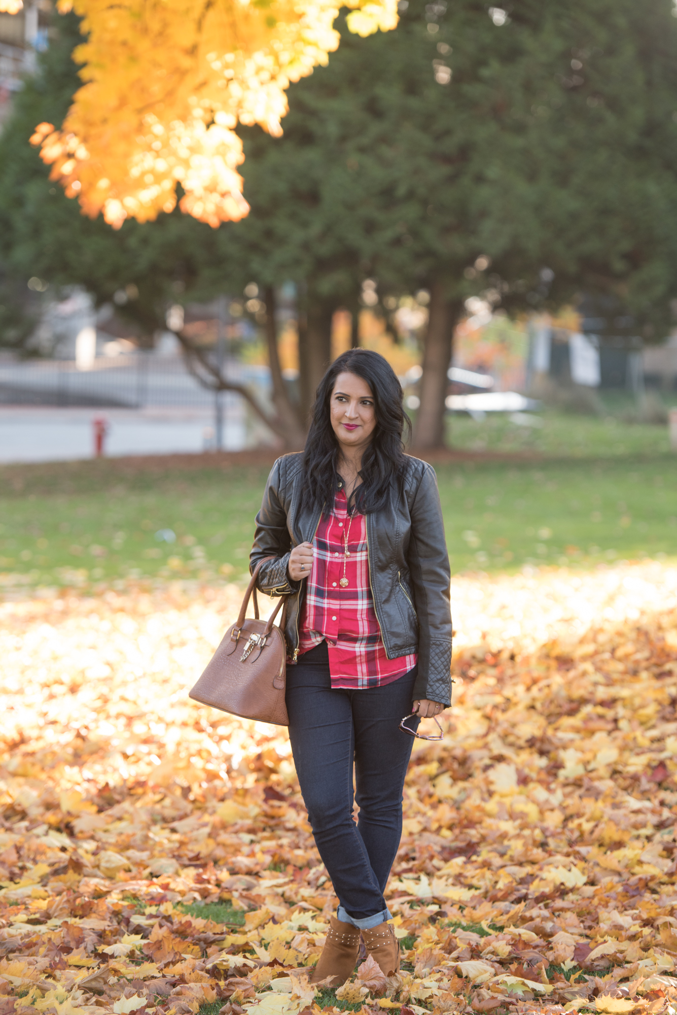 Fall Outift 30 for 30 remix - skinny jeans + plaid shirt