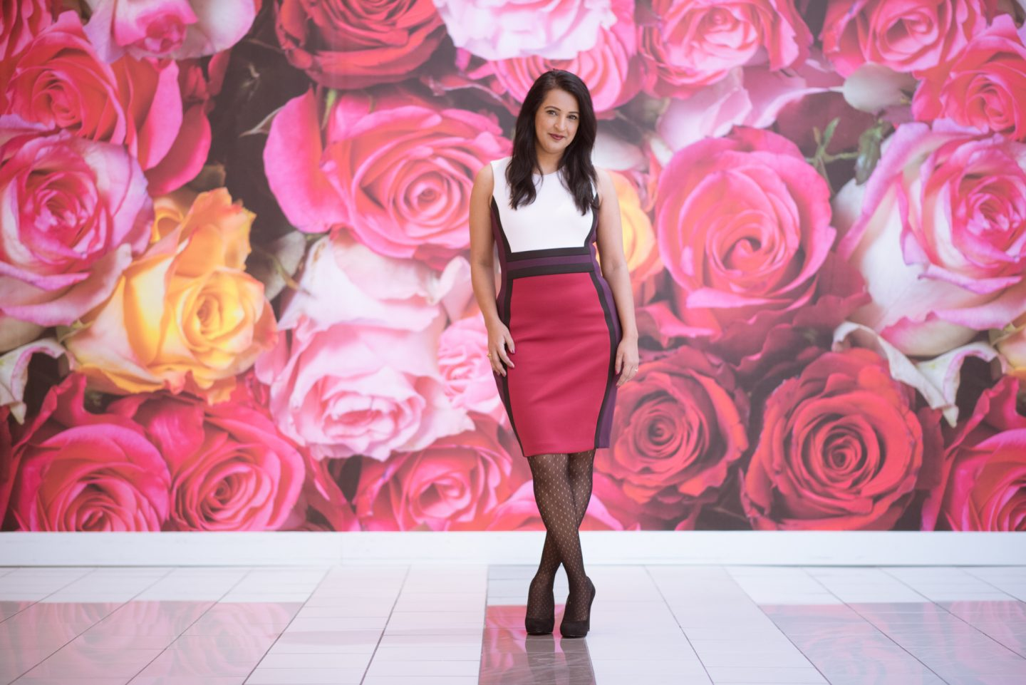 Calvin Klein Color Block Scuba Dress: What I Wore, Pink Chai Living.