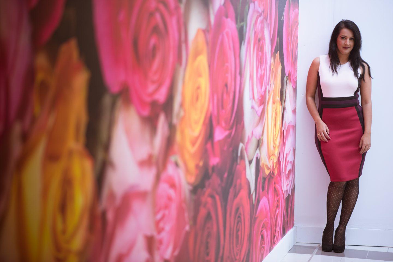 Calvin Klein Color Block Scuba Dress: What I Wore, Pink Chai Living