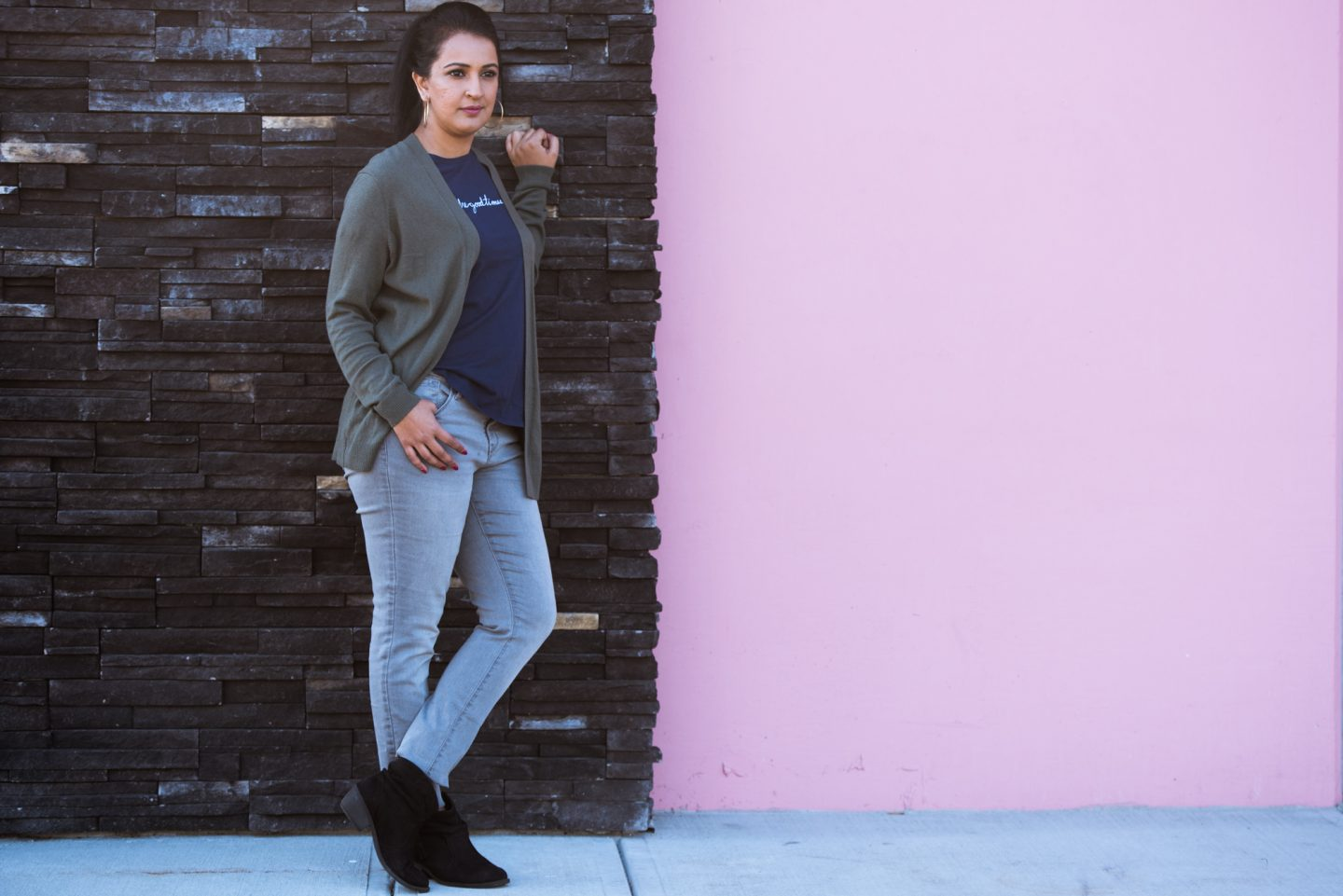 fall outfit, pink chai