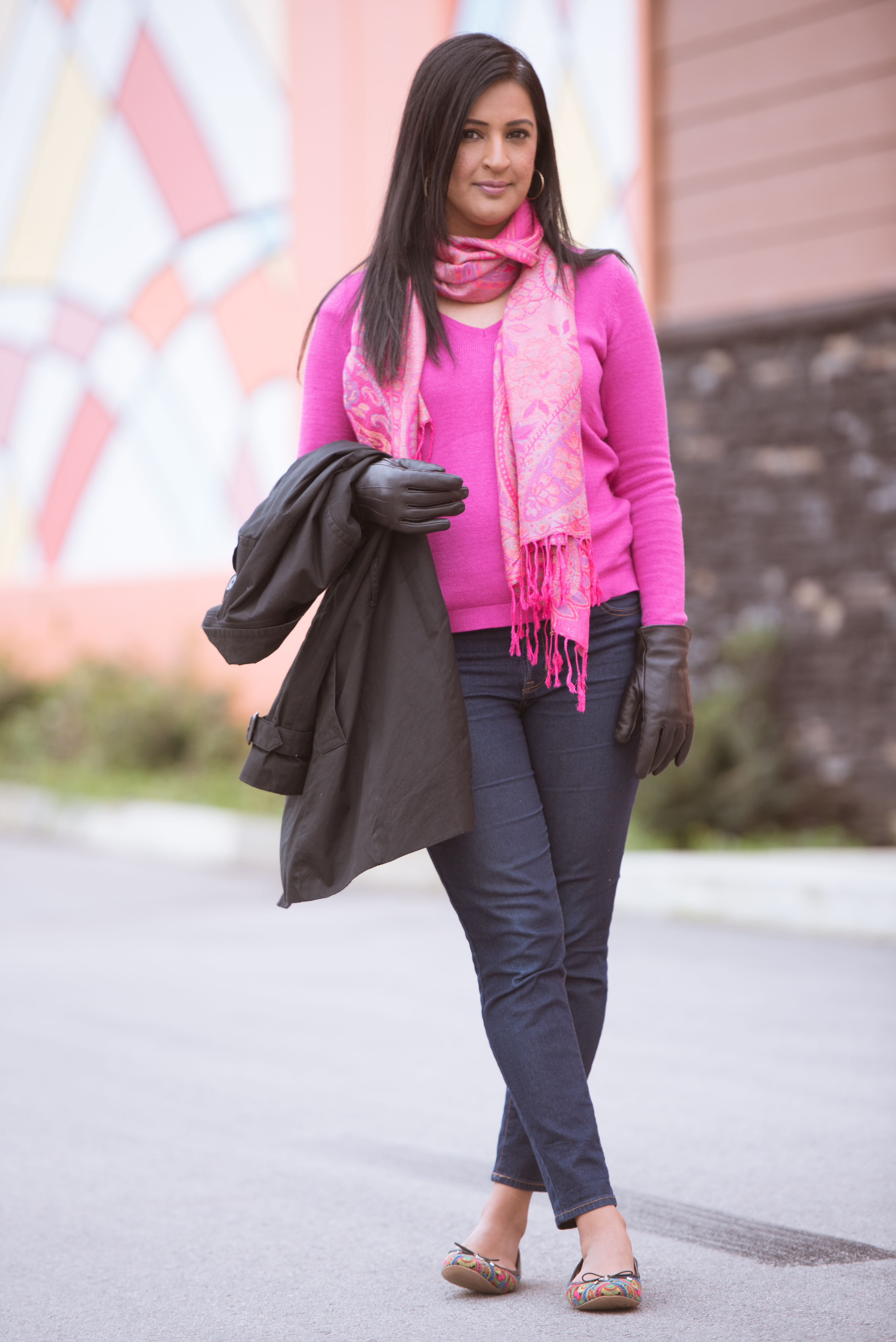 fall outfit pink chai