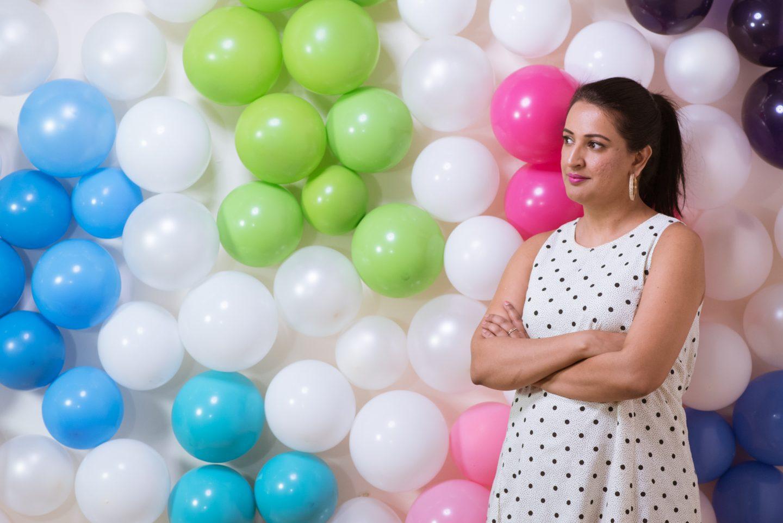 DIY Rainbow Balloon Wall for Holi | Pink Chai Living