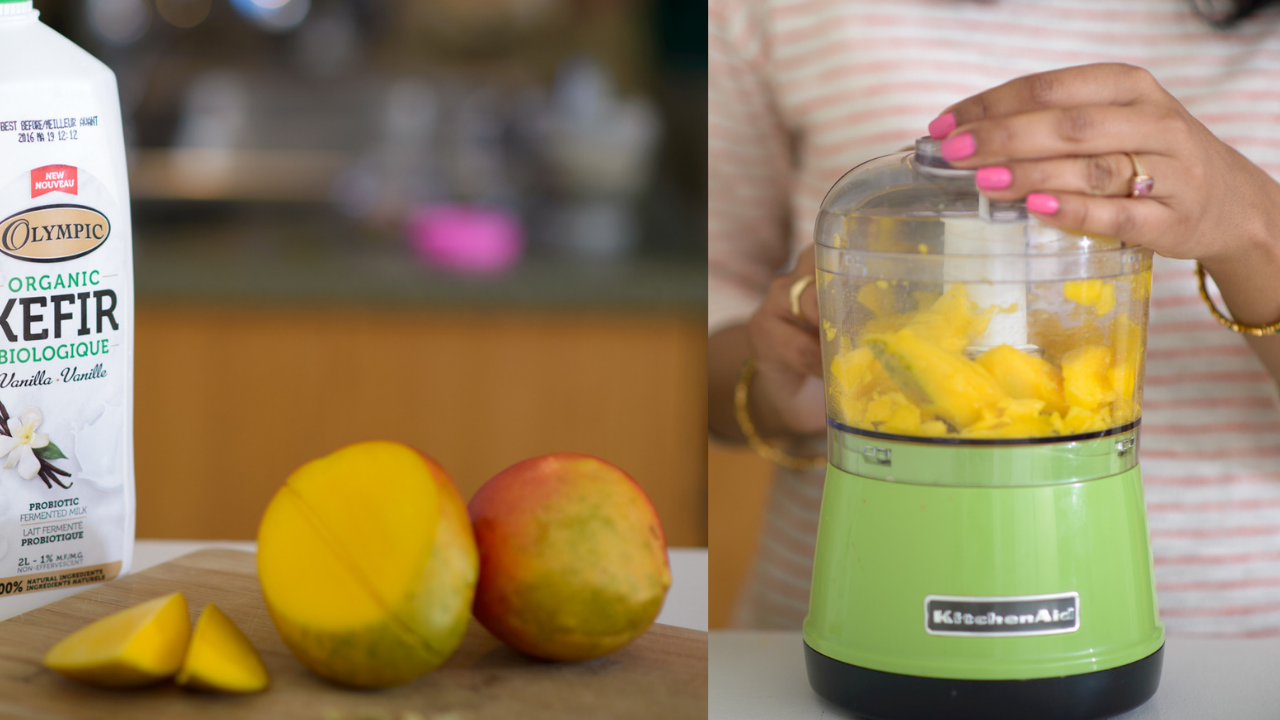 kefir mango lassi, pink chai
