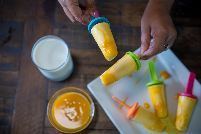 milk mango popsicle