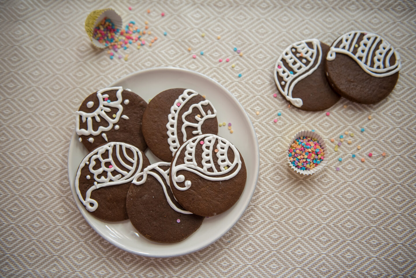 chocolate gingerbread cookie, diwali cookies