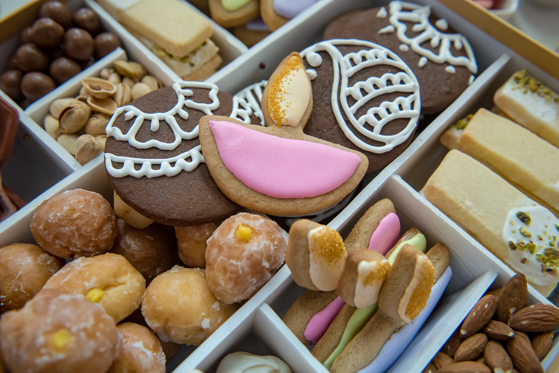 diya cookie, diya cookie cutter, diwali cookie box, diwali gift box