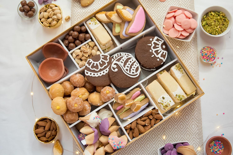 diwali cookie box, diwali gift box, diwali sweets