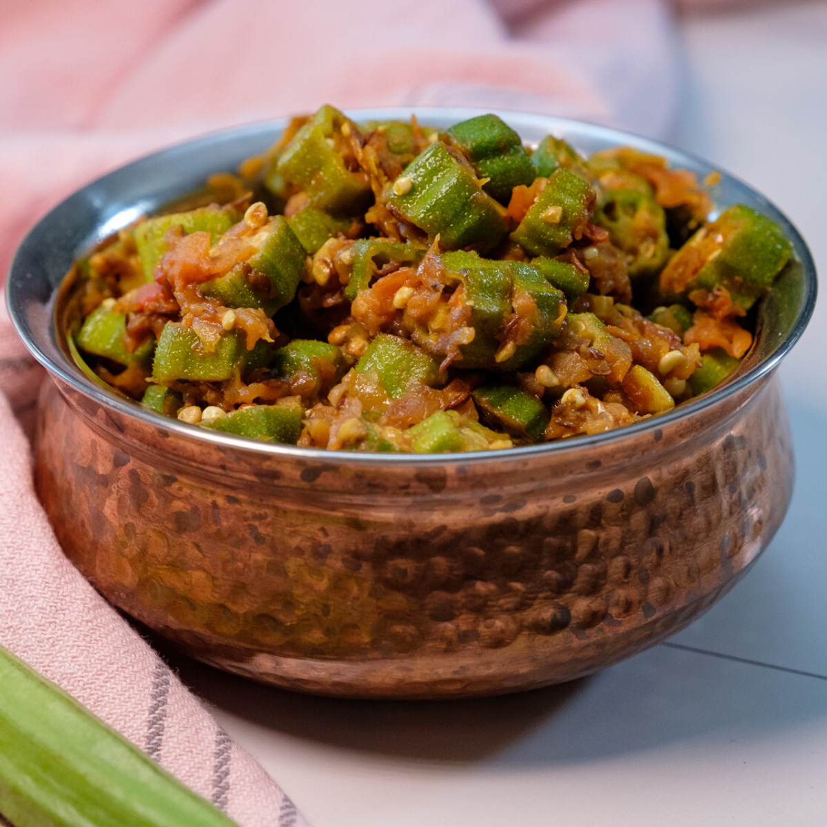 bhindi sabzi, bhindi masala, indian okra recipe