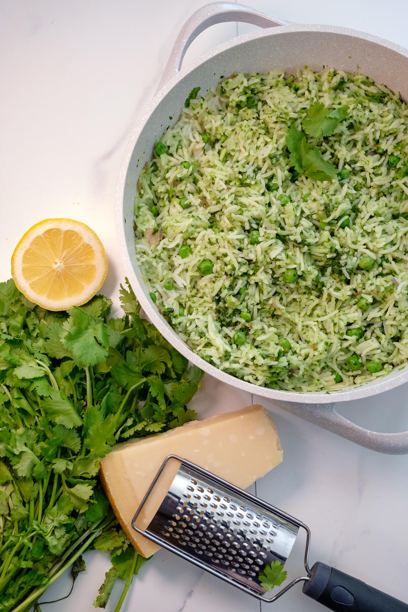 cilantro rice, coriander rice
