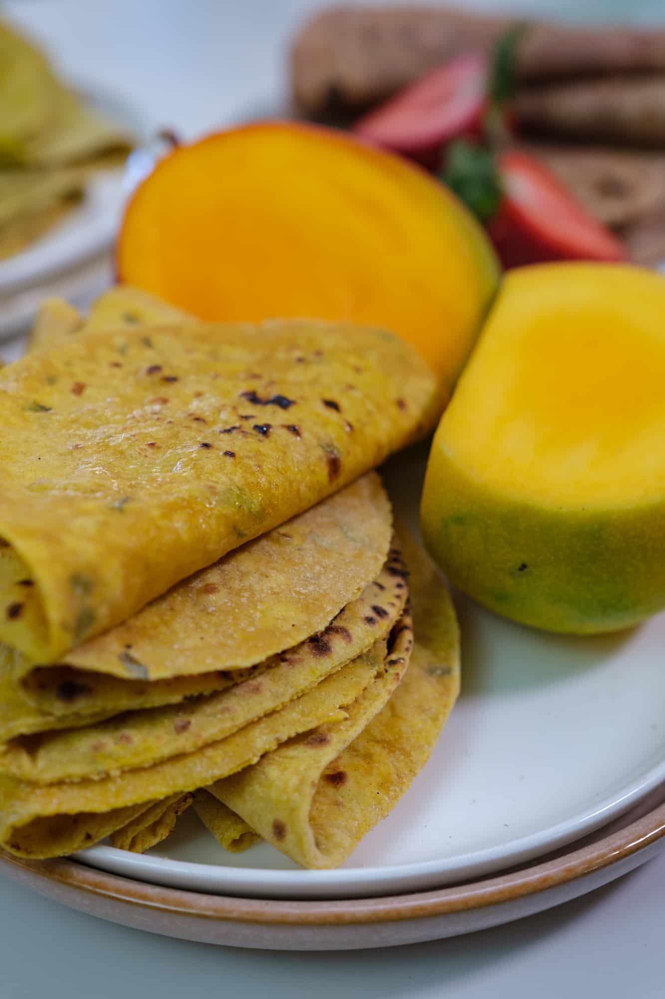 mango roti, mango flatbread